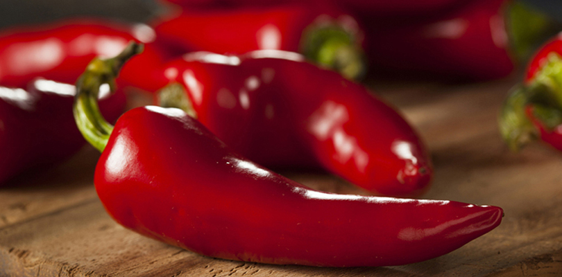 The spicy pepper, capsaicin, sits on a kitchen counter