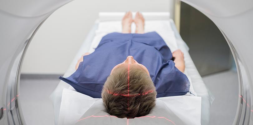 Person in an MRI machine