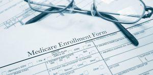 A Medicare enrollment form