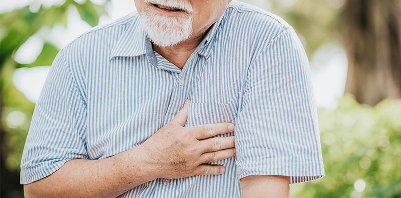 An older gentleman is experiencing congestive heart failure symptoms