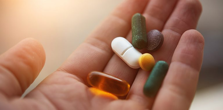 A handful of supplements
