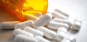 A close up on a bottle of prescription medication
