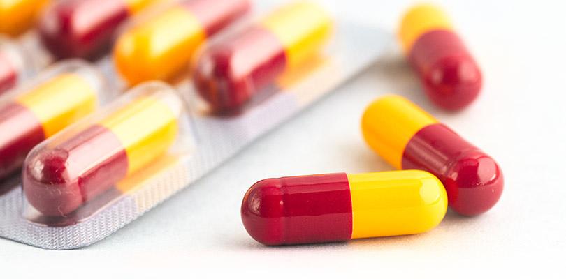 Orange and red capsules