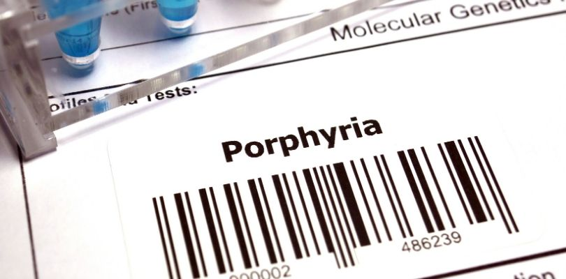 Porphyria is what happens when there is a buildup of porphyrin in the body.